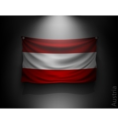 Waving flag austria on a dark wall vector