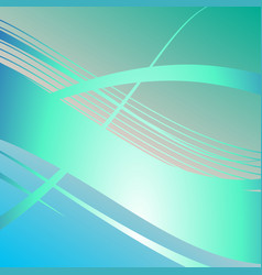 wavy aquamarine lines abstract background vector image