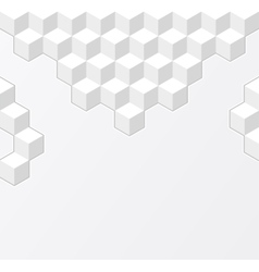 white geometric background with cubes vector image