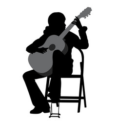 young woman acoustic guitar player vector image