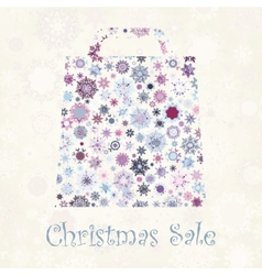 Bag For Shopping With snowflakes EPS 8 vector image vector image