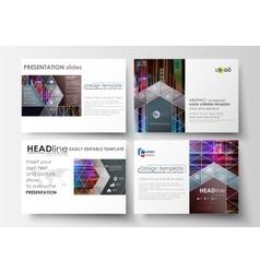 Business templates for presentation slides vector image