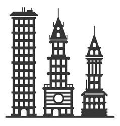 city modern skyscraper buildings set vector image