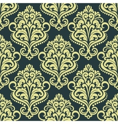 Dainty floral yellow seamless pattern vector image