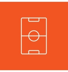 Stadium layout line icon vector image vector image