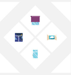 flat icon glass set of clean frame glazing and vector image vector image