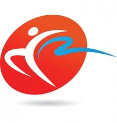 sport silhouette series gymnast vector image vector image
