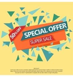 Super Sale special offer paper banner vector image vector image