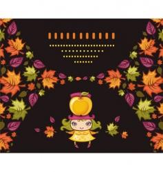 autumnal girl vector image