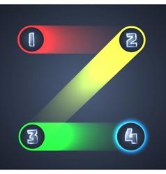 Colorful Illuminated Shiny Infographic Elements vector image