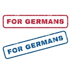 For Germans Rubber Stamps vector image