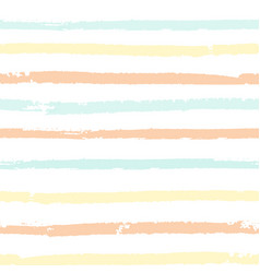 seamless pattern with pastel color painted stripes vector image vector image