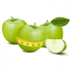three apples and meter vector image