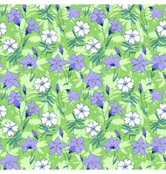 Beautiful wild bluebell flowers seamless pattern 1 vector
