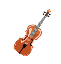classic violin isolated vector image
