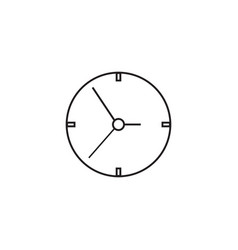 clock line icon time and watch graphics vector image
