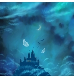 Halloween Nightly Background vector image vector image