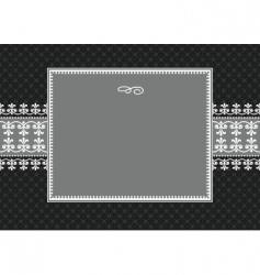 ornate frame vector image vector image
