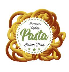pasta traditional dish of italian cuisine vector image vector image