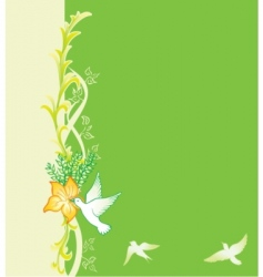 spring card vector image vector image