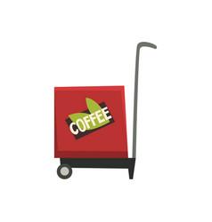 street food coffee trailer on vector image vector image