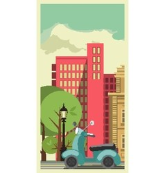 Transportation in the City vector image