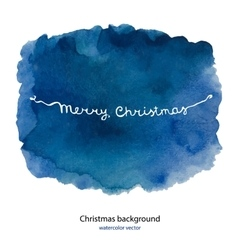 Watercolor background for merry Christmas and hand vector image vector image