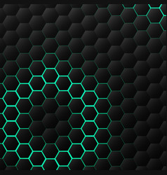 abstract black hexagonal technology pattern vector image