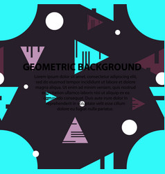 abstract geometric pattern and background vector image