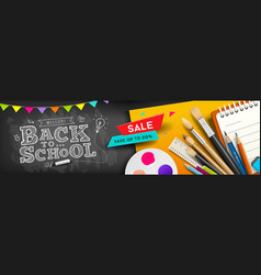 back to school school supplies for sale vector image