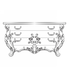 Baroque Imperial luxury furniture vector