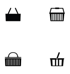 basket icon set vector image