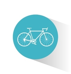 Bike inside circle and healthy lifestyle design vector