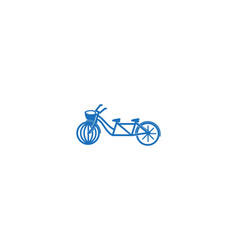 bike logo designs inspiration isolated on white vector image