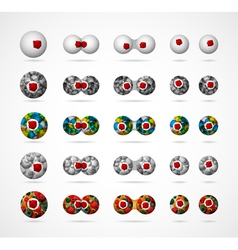 biological cells set vector image