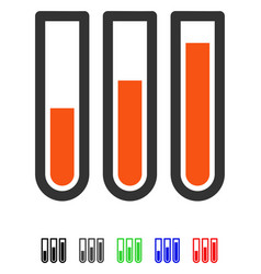 Blood analysis flat icon vector