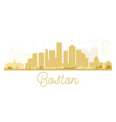 Boston city skyline golden silhouette vector