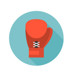 Boxing glove icon flat design vector