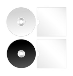 Cd dvd isolated icon compact disc vector