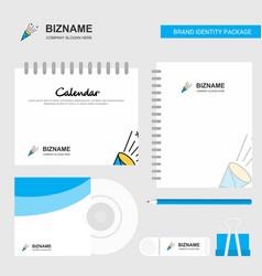 celebration pop logo calendar template cd cover vector image
