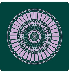 Celtic circular geometric floral pattern on a gree vector