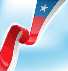chilean ribbon flag on background vector image
