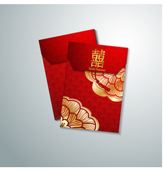 Chinese red envelope for new year vector