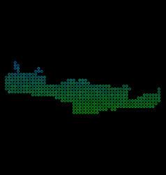 Circle dot crete island map vector