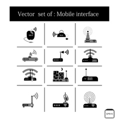 Concept of flat icons with long shadow world vector