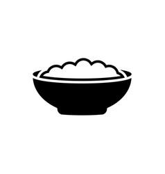 corn flakes black icon on white background vector image