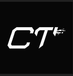 Ct logo monogram abstract speed technology design vector