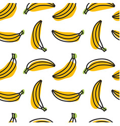 cute hand drawn bananas on a white background vector image