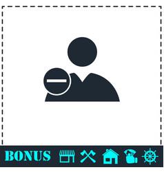 delete user icon flat vector image