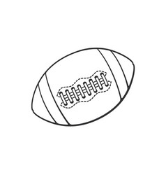 doodle leather american football ball vector image